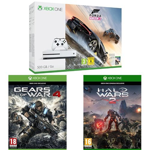 pack console xbox one s 500 go forza horizon 3 gears. Black Bedroom Furniture Sets. Home Design Ideas